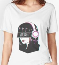 Music! - Sad Japanese Aesthetic Women's Relaxed Fit T-Shirt