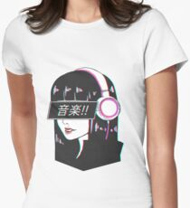 Music! - Sad Japanese Aesthetic Women's Fitted T-Shirt
