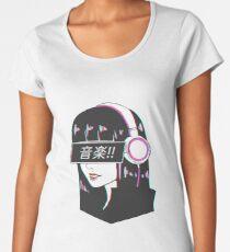 Music! - Sad Japanese Aesthetic Women's Premium T-Shirt