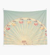 Santa Monica Ferris Wheel Vintage Wall Tapestry