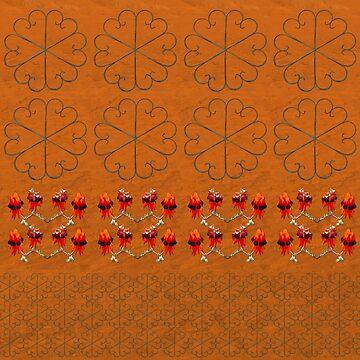 Sturt Desert Pea Fabric by yallmia