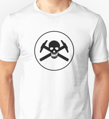 Architectural Jolly Rogers w/ circle - Black Image T-Shirt