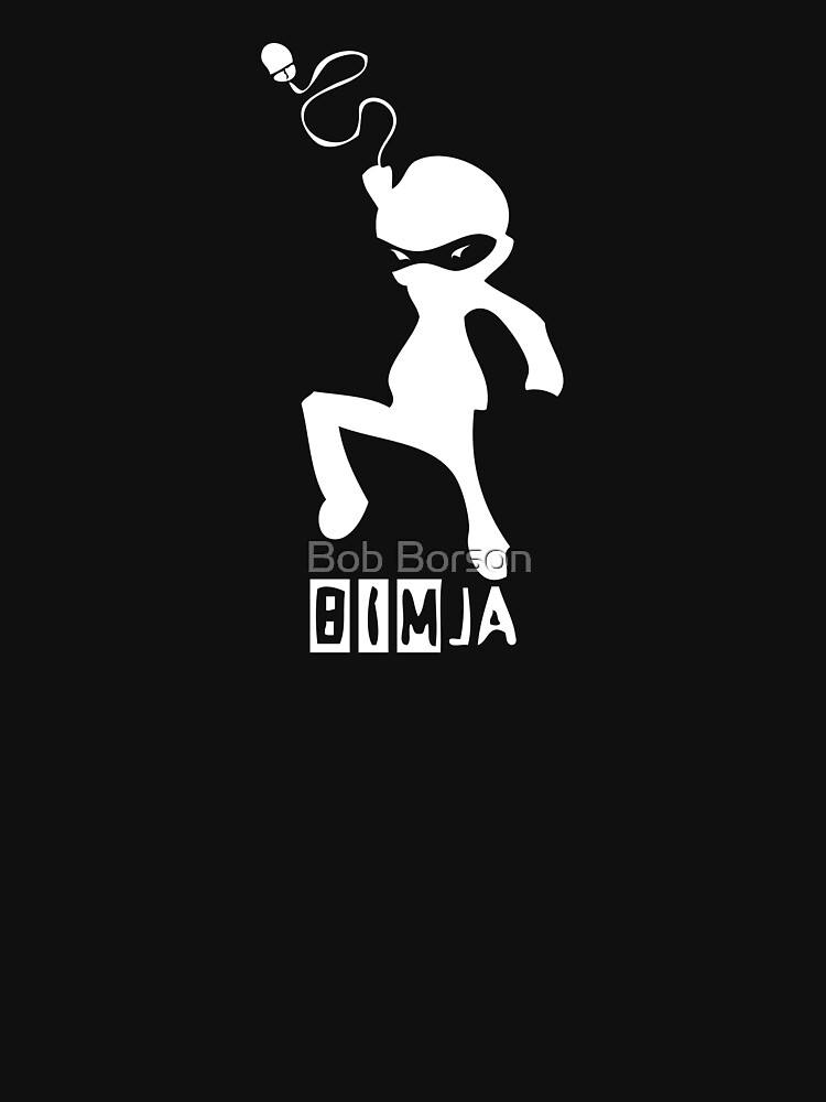 BIMja - The Architectural Ninja (for black shirts) by bobborson