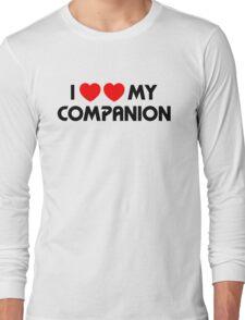 I Two-Heart My Companion Design (White) Long Sleeve T-Shirt