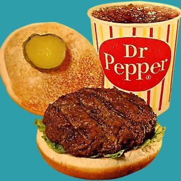 Vintage hamburguesa y Soda Pop de hackeycard