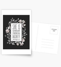 Christian Quote Proverbs 31:25 Postcards