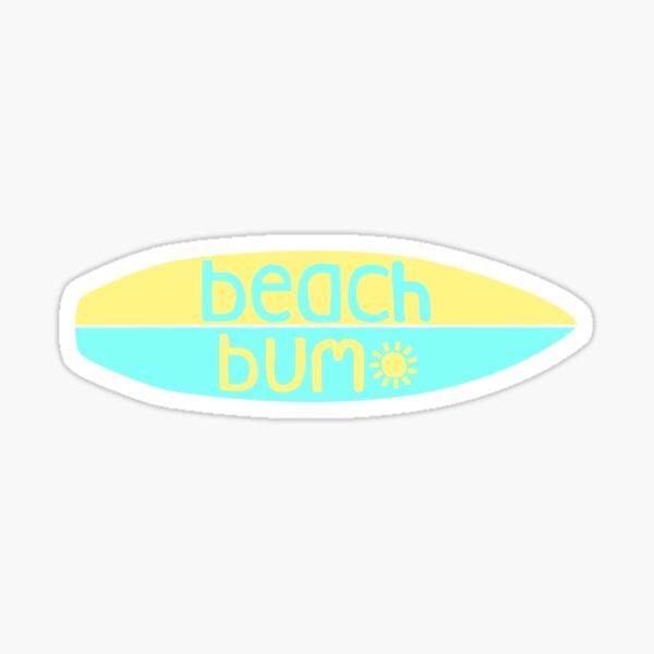 Beach Bum (blau / gelb) Sticker