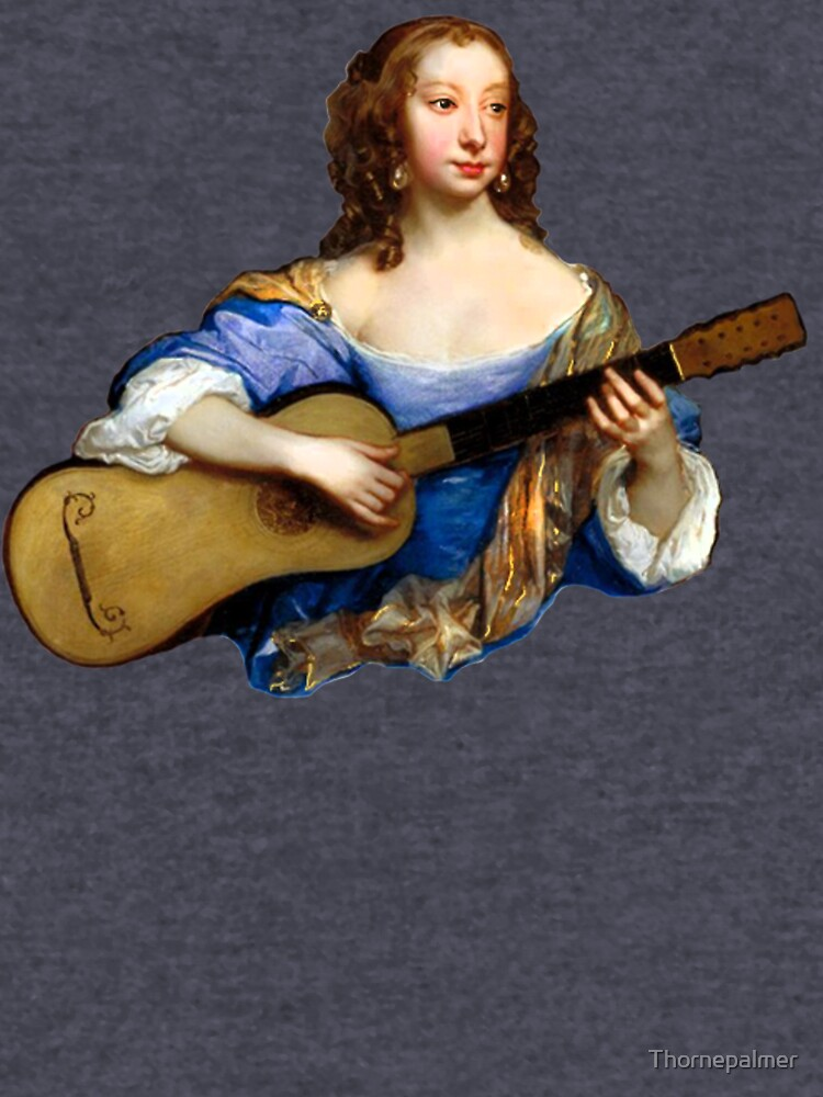 Baroque Woman Playing Guitar - around 1650 by Thornepalmer