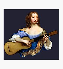 Baroque Woman Playing Guitar - around 1650 Photographic Print