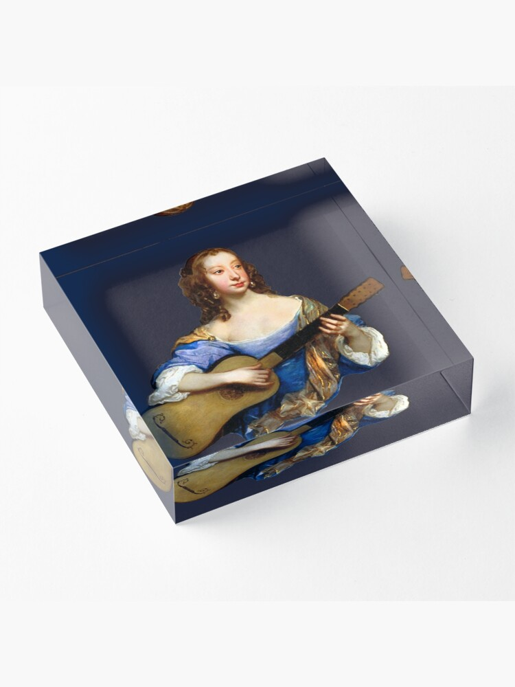 Alternate view of Baroque Woman Playing Guitar - around 1650 Acrylic Block