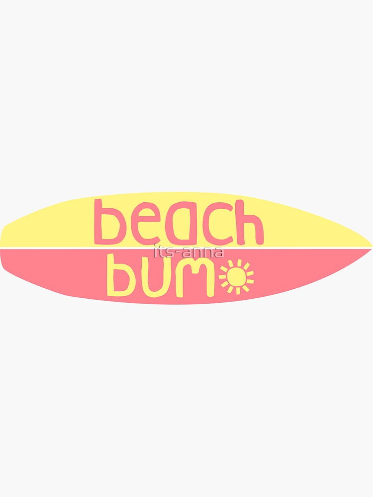 Beach Bum (pink/yellow) by its-anna