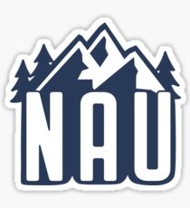 NAU Mountains- Navy Sticker
