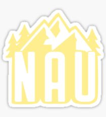 NAU Mountains- yellow Sticker