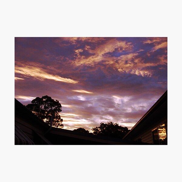 evening sky Photographic Print