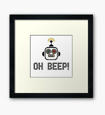 Oh Beep! Framed Print
