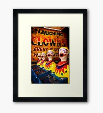 Laughing in Adversity. Framed Print