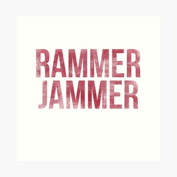 Rammer Jammer Tie Dye Art Print