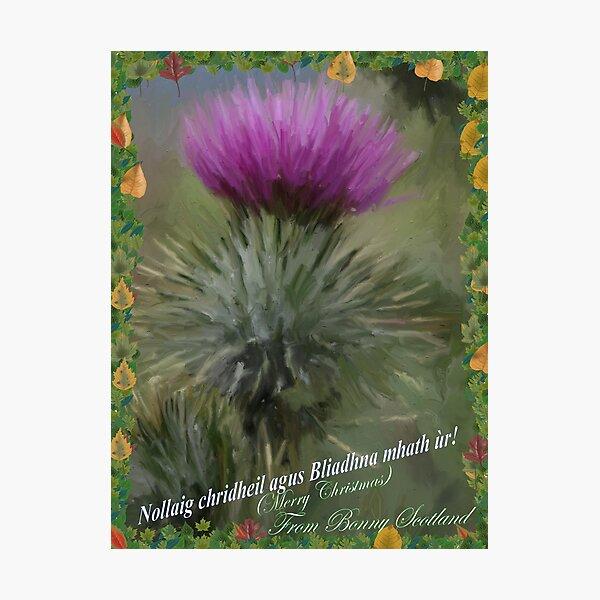 A Gaelic Christmas Card Photographic Print