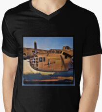 Miss Liberty - B24 Liberator Men's V-Neck T-Shirt