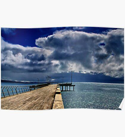 """""""Rainstorm Over Louititt Bay"""" Poster"""