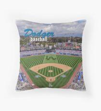 Dodger Baseball Throw Pillow