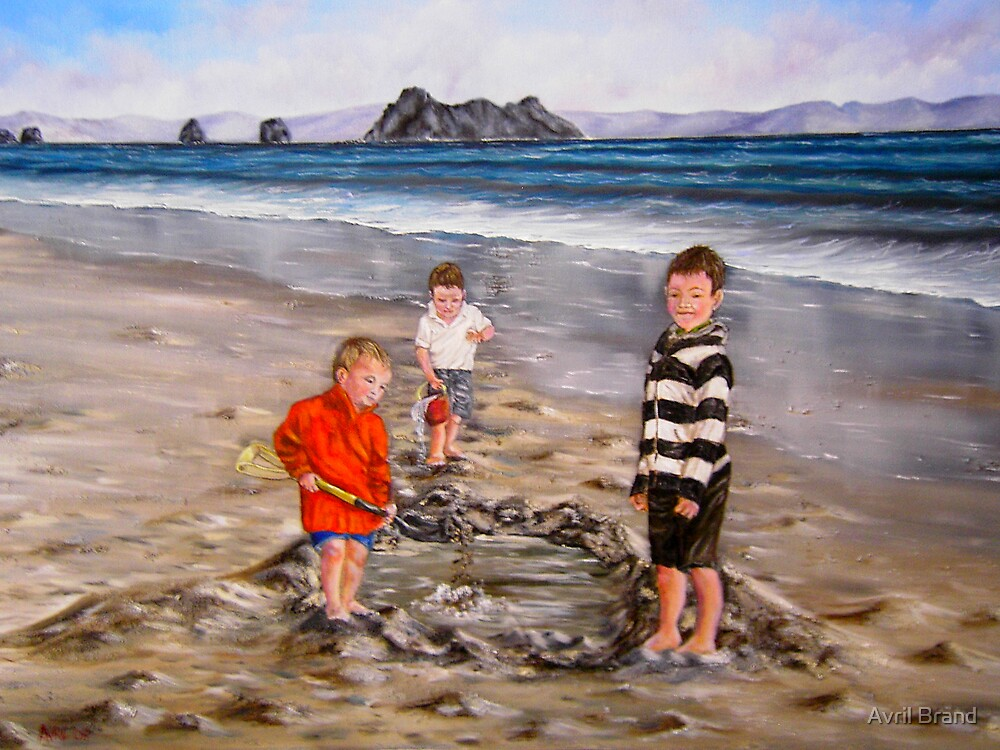 """Boys just want to have fun"" - Oil Painting by Avril Brand"