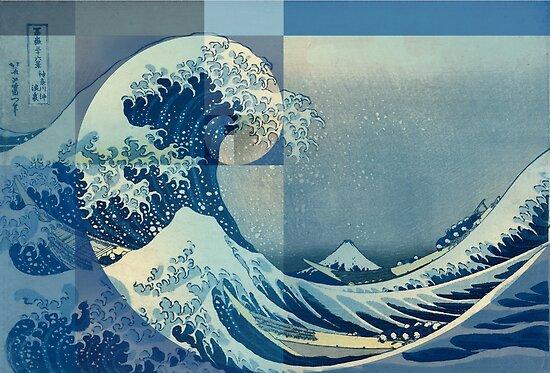 Hokusai Meets Fibonacci, Golden Ratio by SymbolGrafix