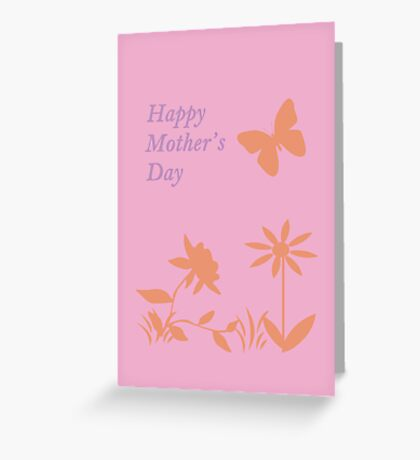 Mother's Day Pastel Nature Silhouette Greeting Card