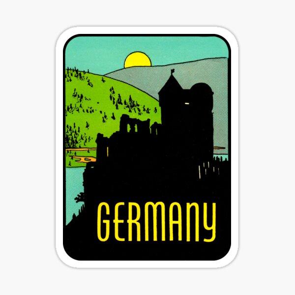 Deutschland Vintage Reise Aufkleber Sticker