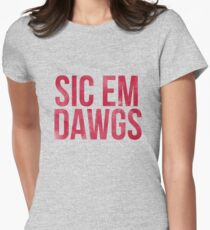 Dawgs Watercolor Women's Fitted T-Shirt