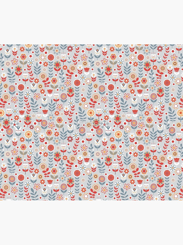 Seamless pattern with flowers. The Scandinavian style. by Skaska