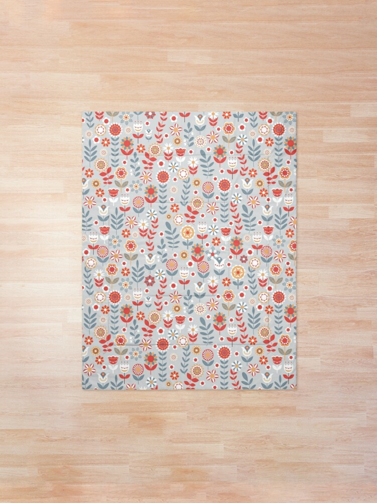 Alternate view of Seamless pattern with flowers. The Scandinavian style. Comforter