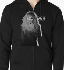 Stronger Than Yesterday // Britney Zipped Hoodie