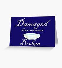 Damaged Greeting Card