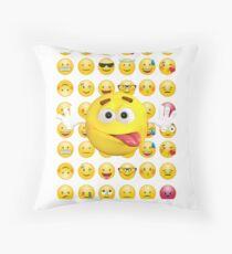 emoji tongue out, emoji tongue sticking out, emoji tongue face Floor Pillow
