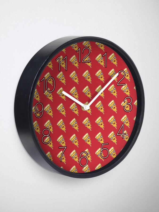 Alternate view of Pizza Face Clock