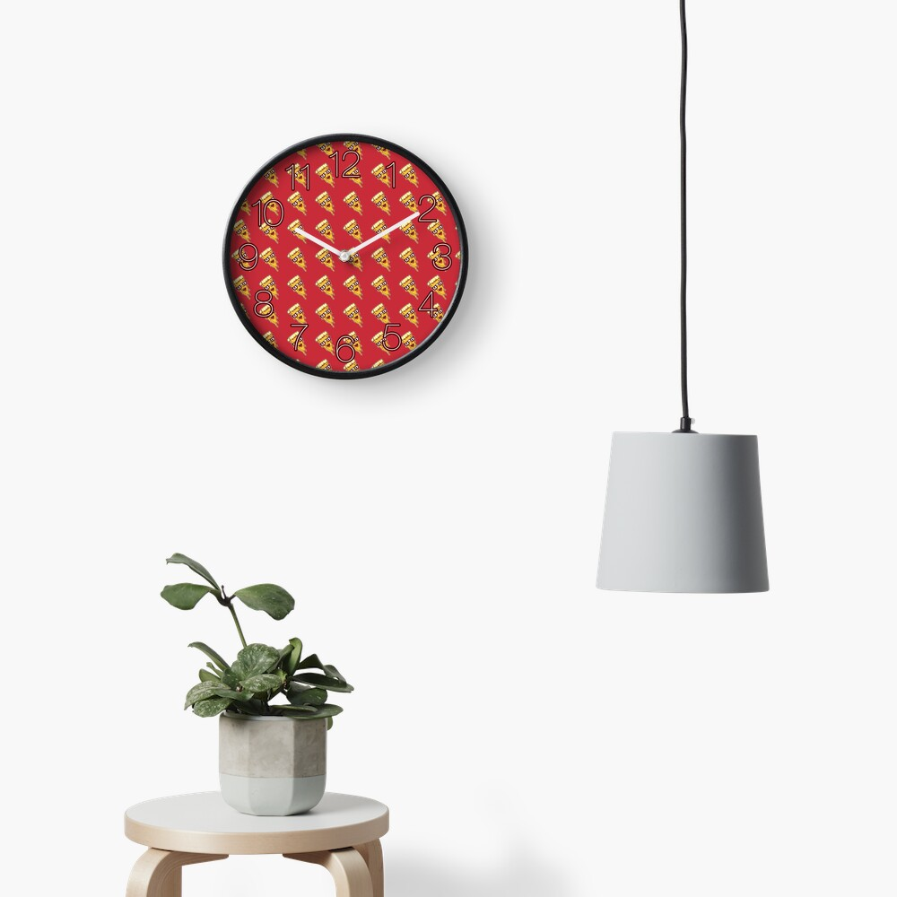 Pizza Face Clock