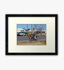 Traveling Minstrel Framed Print