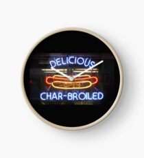 Char-Broiled Clock