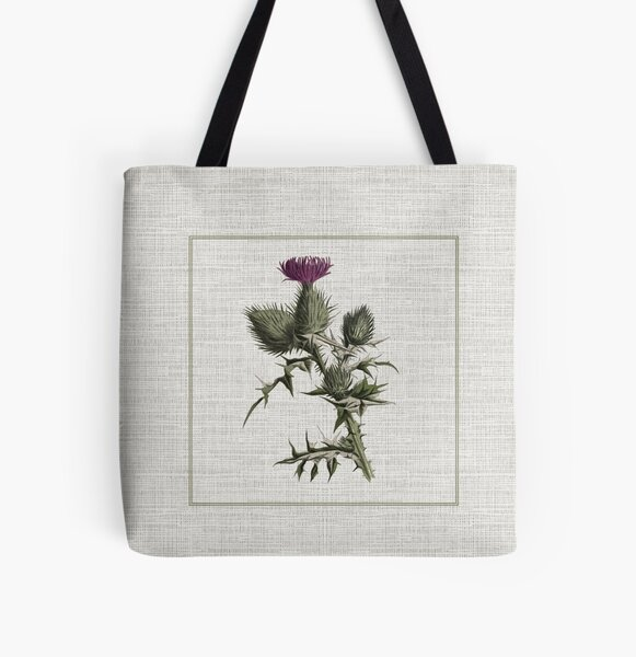 Outlander - thistle All Over Print Tote Bag
