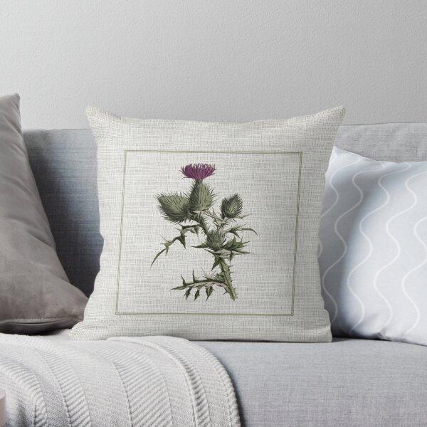 Outlander - thistle Throw Pillow
