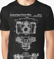 Camera Patent White Graphic T-Shirt