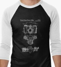 Camera Patent White Men's Baseball ¾ T-Shirt