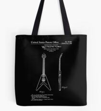 Gibson Flying V Guitar Patent White Tote Bag