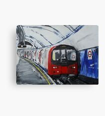 London Underground Northern Line Subway Train Acrylics Canvas Print