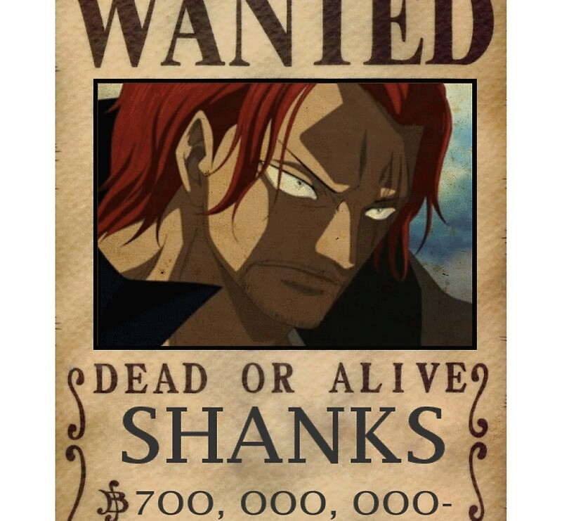 One Piece Wanted Poster Shanks