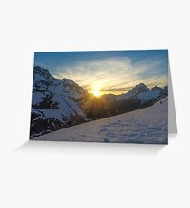 peaking sunset  Greeting Card