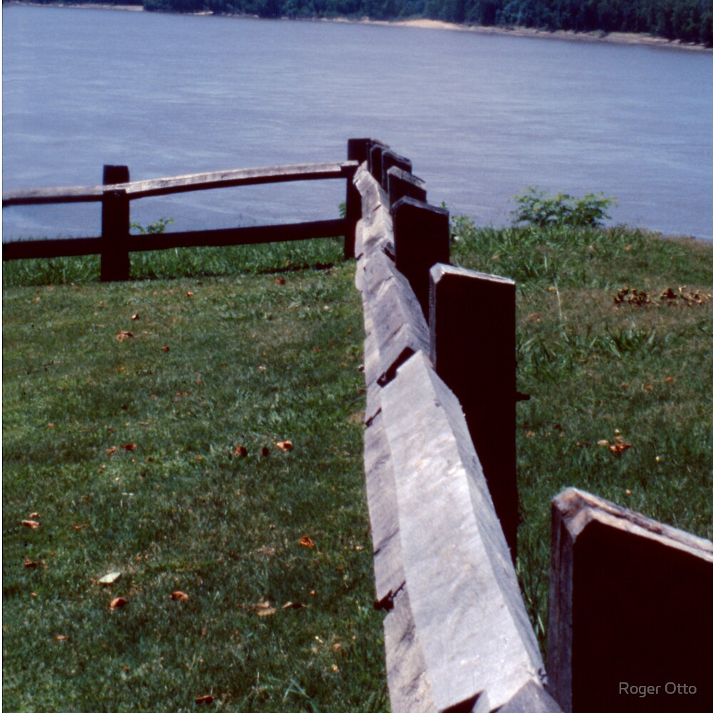 Fence Over Mississippi by Roger Otto