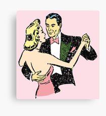 1940s dancing couple Canvas Print