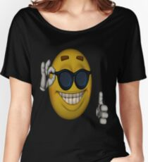 Picardia / Sunglasses Thumbs Up Emoticon Meme Women's Relaxed Fit T-Shirt